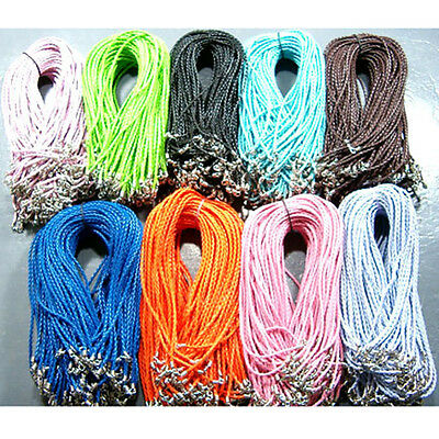 Wholesale Leather Braid Rope Hemp Cord Lobster Clasp Chain Necklace Bracelet NEW