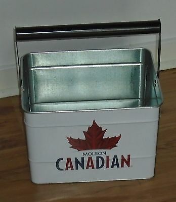 Rare Molson Canadian Metal Ice/beer Bucket With Handle