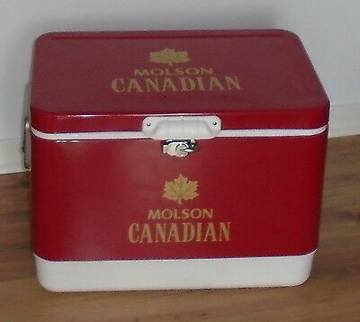 Rare Molson Canadian Vintage Look Large Metal Cooler Canada Day 150