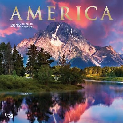 2018 America Wall Calendar,  Scenic America by BrownTrout