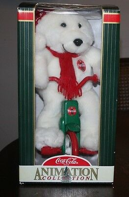 Brand New in Box - Coca Cola Animated Series Polar Bear on a Bike Tricycle