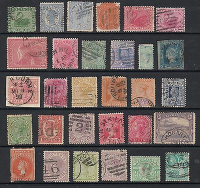 AUSTRALIAN STATES, Collection of 30 stamps, USED