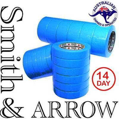 12 ROLLS- PREMIUM BLUE TAPE 24mm x50M PAINTING PAINTER SCOTCH MASKING CAR HOUSE