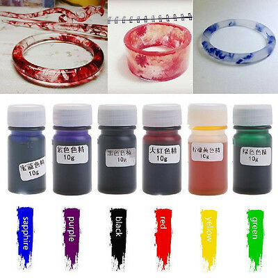 New Liquid Silicone Resin Pigment Dye DIY Making Jewelry Crafts Accessories 10g
