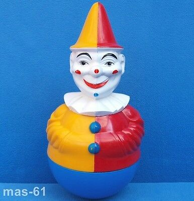 Roly Poly Clown Harlekin Rolly Toys Vintage 21 Cm Figur Puppe