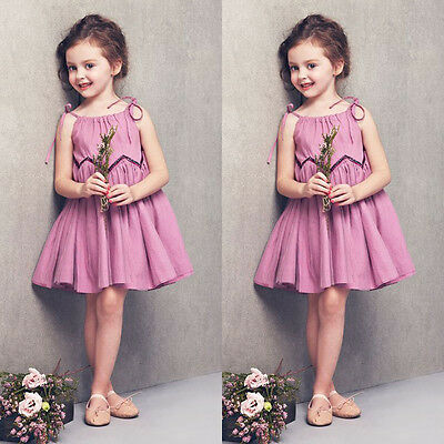 Baby Girl Summer Dress Kid Party Wedding Pageant Formal Dresses Sundress Clothes
