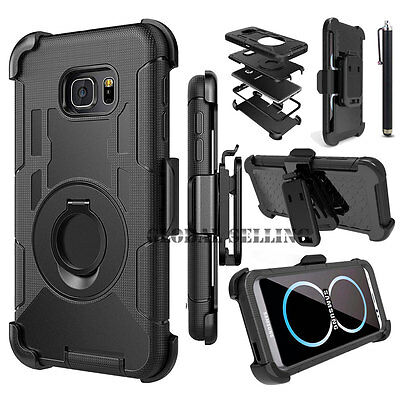 New Defender Hard Holster Ring Holder Kickstand Case Cover With Black Belt Clip