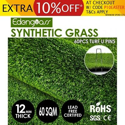 60 SQM Synthetic Turf Artificial Grass Plastic Fake Plant Lawn Flooring 10mm