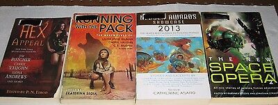 Lot of 4 Science Fiction / Fantasy Short Story Books     (D235)