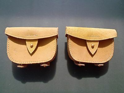 1871 Pattern Natural Tan Buff Leather Ammo Pouches (Pair)