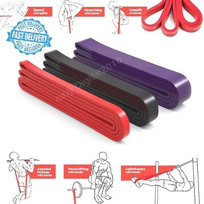 Heavy Duty Resistance Band Loop Power Gym Fitness Exercise Yoga Workout Pull Up