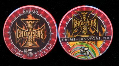 $5 Las Vegas Palms West Coast Choppers Casino Chip - NM