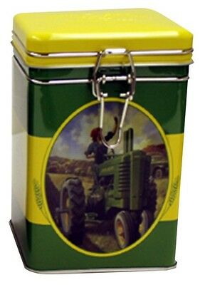 John Deere Square Lock Top Tin/Canister