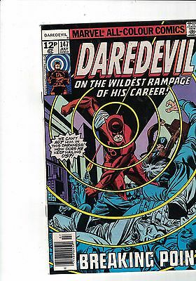 Marvel Comic Daredevil no 147 July 1977 Purple Man App