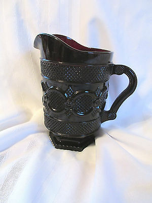 "Vintage AVON THE 1876 CAPE COD COLLECTION RUBY RED 7 1/2"" tall Pitcher"