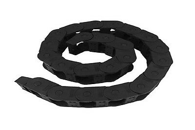 Black Long 1M 1000mm Nylon Cable Drag Chain Wire Carrier 15mm x 50mm