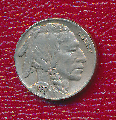 1937-D Buffalo Nickel **choice About Uncirculated** Free Shipping!