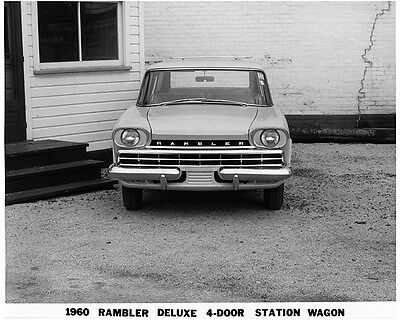 1960 AMC Rambler Deluxe Station Wagon Factory Photo ca7679