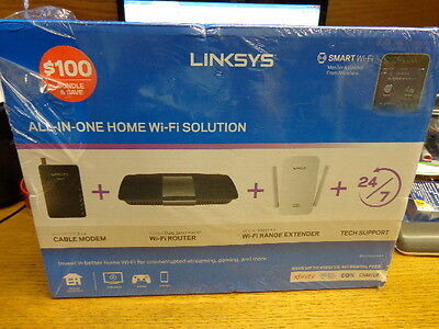 LINKSYS Wireless Networking Bundle: Cable Modem + AC1600 Router + Range Extender