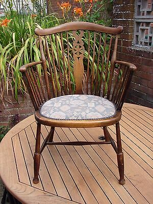 Vintage Stickback Armchair Lady / Child Sized Pub Smoker Captain Fireside Chair