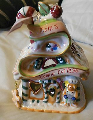2008 Blue Sky Clayworks- Moms Cookie Cottage Gingerbread House- Tea Lite