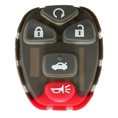 5 BUTTONS Remote Key Keyless Rubber FOB PAD Rplacement For Chevrolet GM Pontia