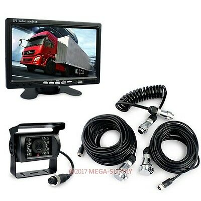 "Horse Trailer Motorhome Back-up CCD Camera Kit System 7"" Monitor 4pin Waterproof"