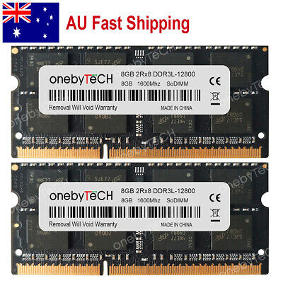 AU 16GB 2x8GB PC3L-12800 DDR3-1600 204-pin SoDimm MacBook Pro Imac Mac Mini RAM