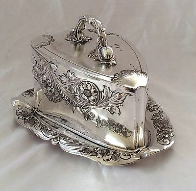 Fine Antique Sheffield Repousse Silver Plated Cheese Dish J Dixon&Sons C.1890