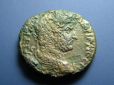 Judaea Ancient City Of Gaza Hadrian & Tyche Provincial Roman City Coin Judean