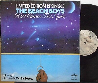 "THE BEACH BOYS ~ Here Comes The Night ~ 12"" Single PS LTD ED"