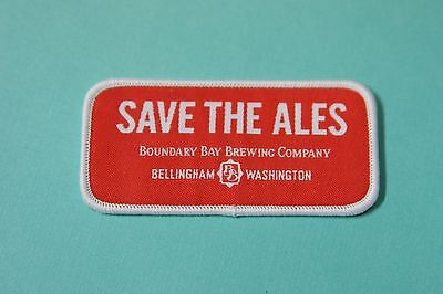 Beer Fabric Patch ~*~ BOUNDARY BAY Brewing ~*~ Bellingham, WASHINGTON Breweriana