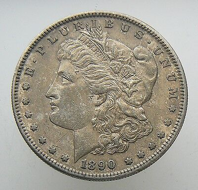1890-S Morgan Silver One Dollar Coin