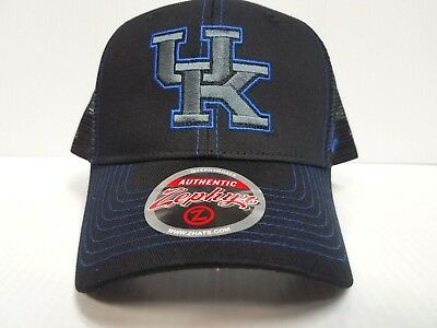 best website 7a40d 4d64f Kentucky Wildcats Cap Zephyr Snapback Staple Trucker Blackout Mesh Hat NCAA