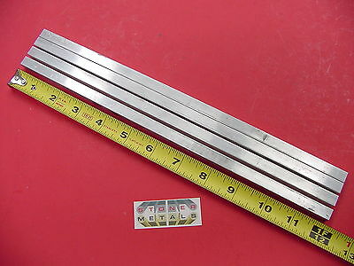"4 Pieces 3/8"" X 3/8"" ALUMINUM SQUARE 6061 T6511 FLAT BAR 12"" long Mill Stock"