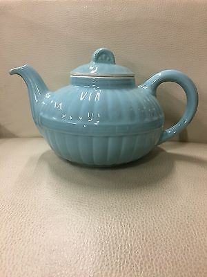 Beautiful Vintage Hall Teapot Blue With Factory Defects
