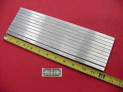 "10 Pieces 3/8"" X 3/8"" ALUMINUM SQUARE 6061 T6511 FLAT BAR 12"" long Mill Stock"