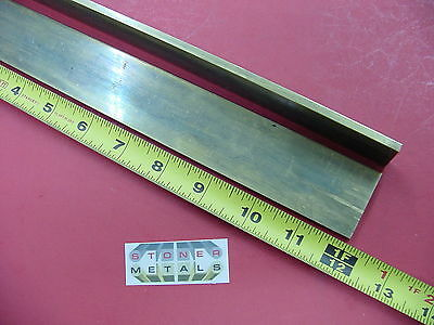 "2 Pieces 3/16""x 1-1/2"" C360 BRASS FLAT BAR 12"" long Solid Mill Stock H02 .187"""