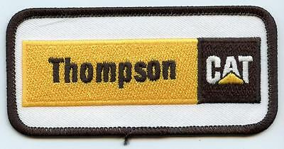 "Thompson CAT Caterpillar 4"" Embroidered Dealer Patch Tractor Iron or Sew on"