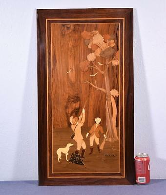 *Inlaid Marquetry Panel with Hunting Scene 1 Salvage