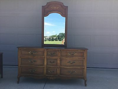 Dixie Furniture, French Provincial Dresser with Mirror