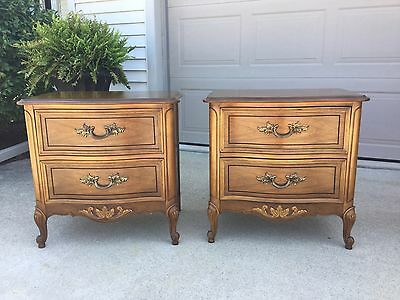 Dixie Furniture, Beautiful Pair of French Provincial NightStands, Bedside Tables