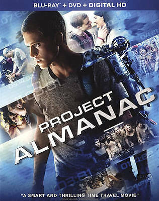 PROJECT ALMANAC (Blu-ray/DVD, 2015, 2-Disc Set) New / Sealed / Free Shipping