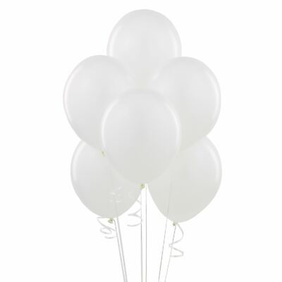 100 Helium Quality Plain White Balloons Baloons  Wedding Party Decorations