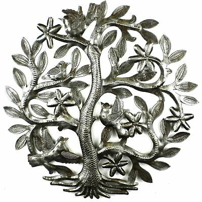 14 inch Tree of Life with Birds Wall Art - Croix des Bouquets Handmade In Haiti