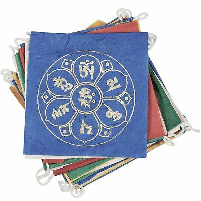 Paper Prayer Flags Om Lotus 8 ft. long - Tibet Collection - Handmade In Nepal