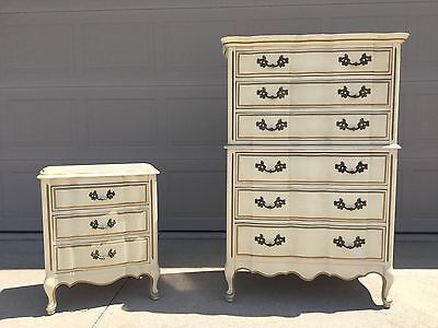 Vintage Robinson Furniture French Provincial Chest and Nightstand