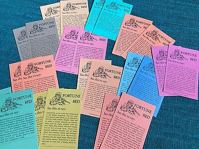 Disneyland Pirates of the Caribbean arcade Fortune Red cards vintage 24 set