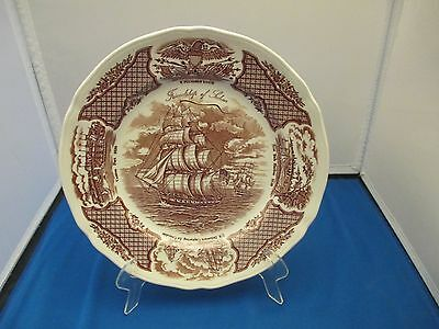"""Fair Winds 10.5"""" Dinner Plate Staffordshire England Alfred Meakin Tall Ship"""