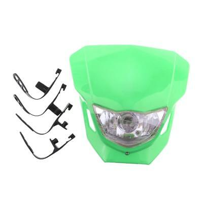Universal Motorcycle Dirt Bike Headlight Front Lampe frontale Ampoule - Vert